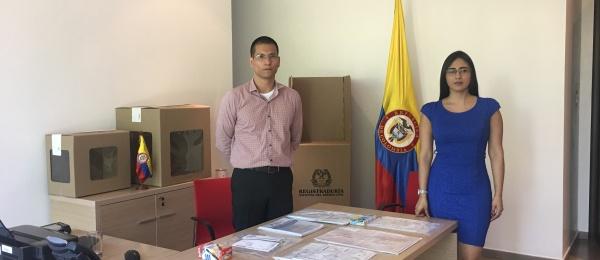 Consulado de Colombia en Acra inició la jornada final del proceso electoral en el exterior para Congreso y consultas interpartidistas 2018
